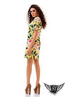 Платье с цветочным принтом, цвета желтое, пудры, голубое, красное, синее, все размеры, другие цвета