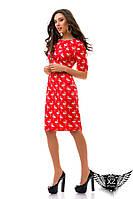 Платье фламинго с принтом, цвета желтое, синее, красное, все размеры, другие цвета