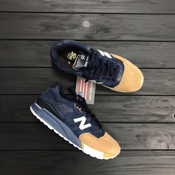 Мужские кроссовки New Balance 998 Blue/Orange топ реплика