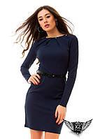 Платье шипы с ремнем, короткое, цвета голубое, красное, синее, марсала, розовое, все размеры