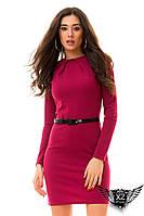 Платье шипы с ремнем, короткое, цвета голубое, красное, тёмно-синее, марсала, бордовое, розовое, все размеры