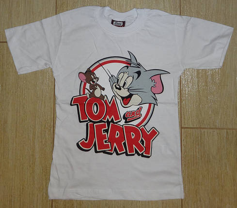 Футболка Том и Джери белая1, фото 2