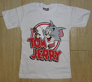 Футболка Том и Джери белая1