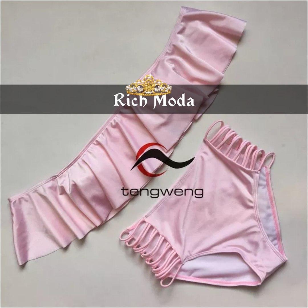 0a1c4c3b3c915 Размер: 42 · Женский нежно-розовый купальник с завышенной талией. Ткань:  бифлекс.