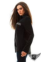 Женская рубашка с камнями, цвета черная, белая, все размеры