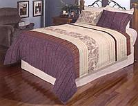Комбинированное постельное белье с узором19122
