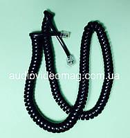 Витой кабель, шнур RJ-9 (4Р4С) для телефонной трубки, черный