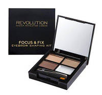 Набор для бровей - Makeup Revolution Focus & Fix Brow Kit (Оригинал)