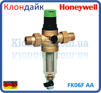 Самопромывной фильтр тонкой очистки Honeywell FK06F 3/4 AA  с регулятором давления