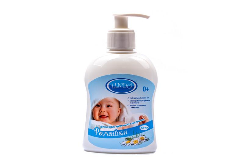 Lindo Крем-мыло детское с с экстрактом ромашки 300мл U761