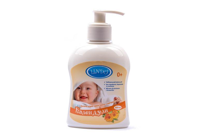 Lindo Крем-мыло детское с с экстрактом календулы  300мл U761