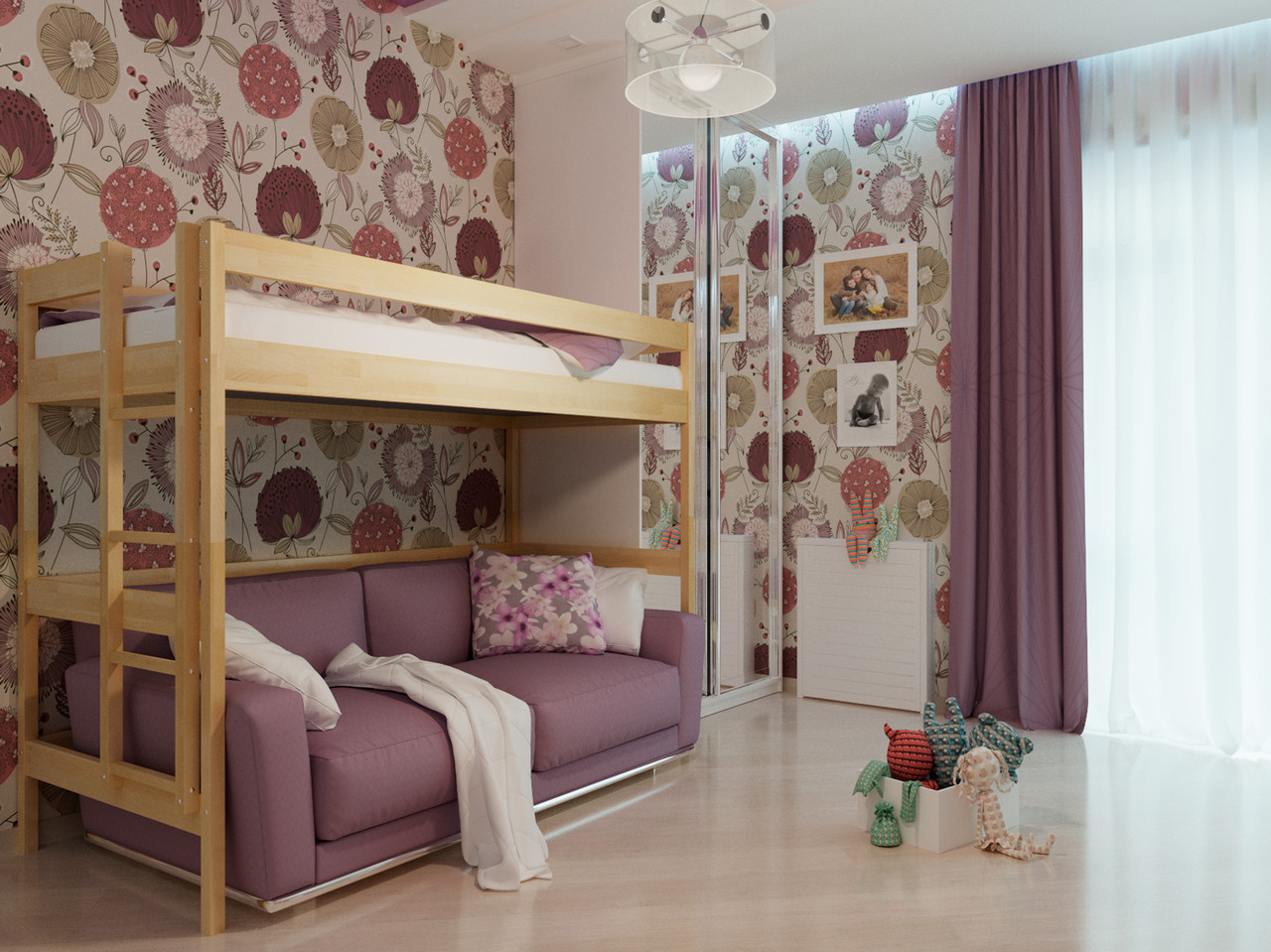 Кровать детская Чердак