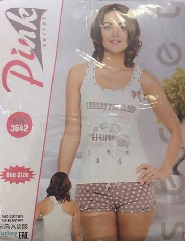 Удобная и стильная женская пижама  Pink Secret, фото 2