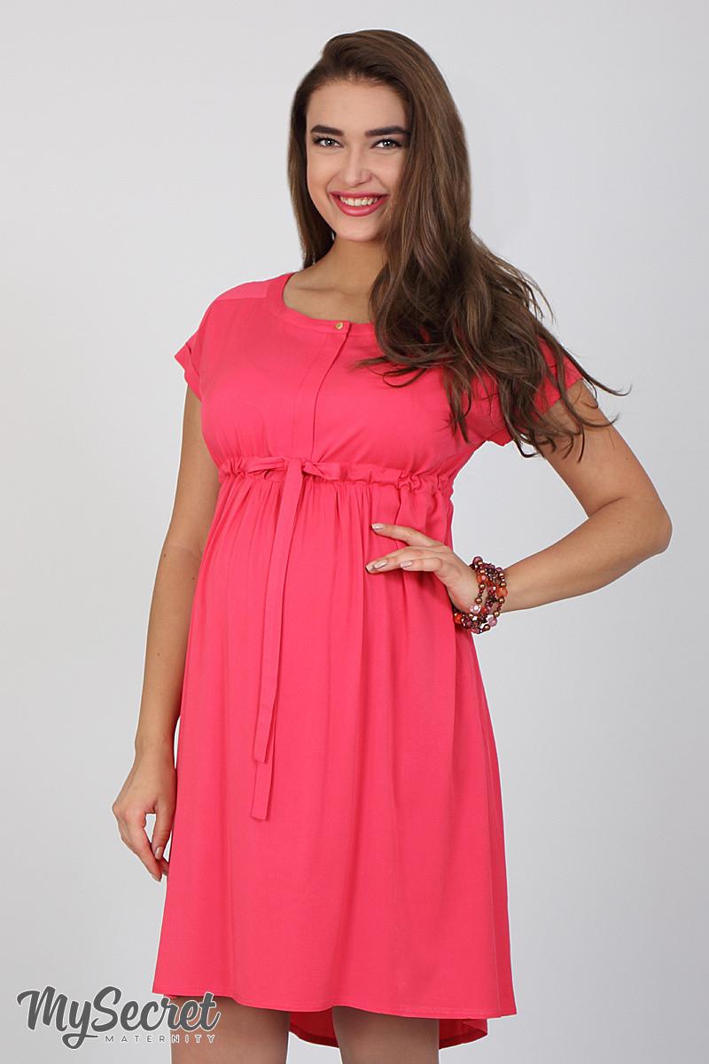 ea844ced5205 Платье для беременных и кормящих Rossa, из стрейчевого штапеля, теплый  малиновый - Интернет-