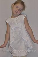 """Летнее платье для девочки """"Очаровашка"""" белое. Детская одежда оптом."""