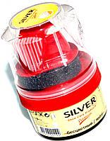 Крем блеск для обуви SILVER 50ml бесцветный с губкой, фото 1