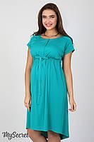 Платье для беременных и кормящих Rossa, из стрейчевого штапеля, темно-морская волна*