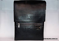 Сумка мужская GORANGD 688-5 чёрная / коричневая