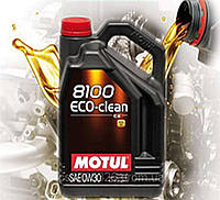 Моторное масло Motul 8100 Eco-clean 0W30 (5л)