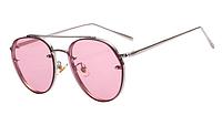 Женские очки с прозрачной, цветной линзой