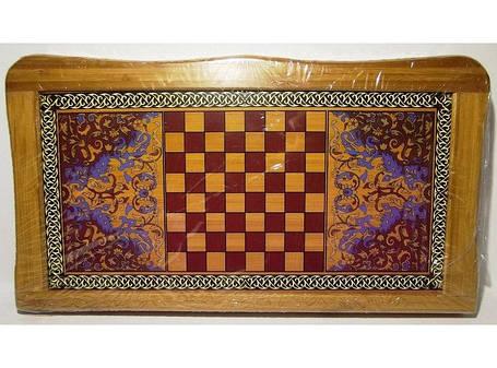 Набор 2-в-1: нарды + шахматы (БАМБУК) I4-19, настольные игры шахматы, нарды, набор игр шахматы нарды, фото 2