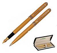 Набір ручок (П+К) в бархатному футлярі, корпус матовий золотий Regal