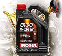 Моторное масло Motul 8100 X-clean 5W40 (5л)