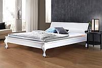 Деревянная кровать Николь (темный орех,белая)