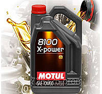 Моторное масло Motul 8100 X-Power SAE 10w60 (5л)