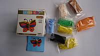 """Застывающий пластилин """"Magic Clay Бабочка"""",набор для лепки.Масса для лепки супер легкая прыгающая застывающая"""