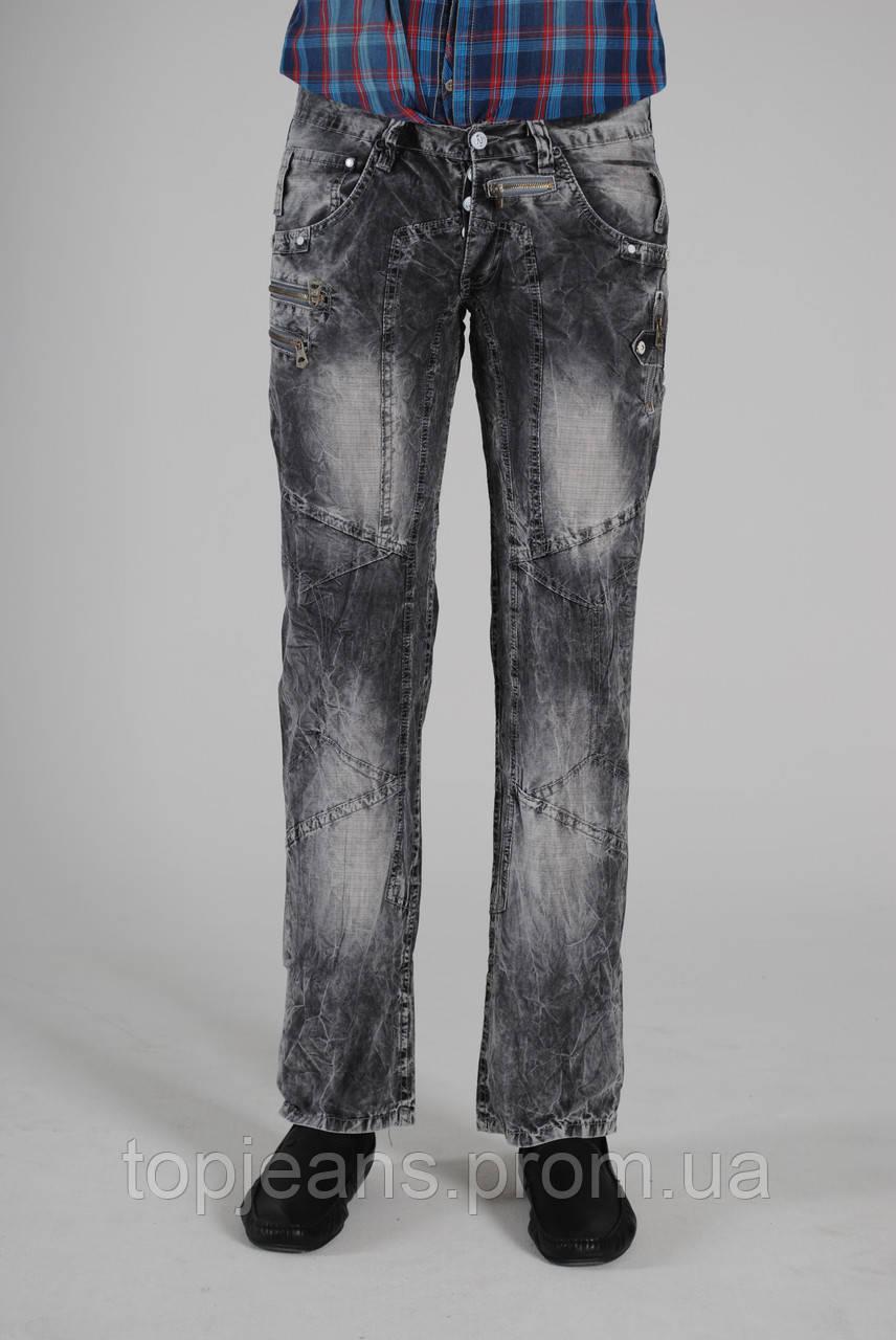 Серые джинсы мужские Red Ford, ровные, варка