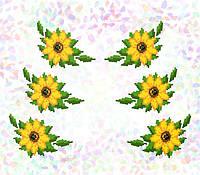 """Водорозчинний флізелін Confetti """"Соняшники"""""""