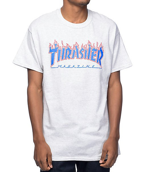 Футболка с принтом Thrasher Patriot Flame мужская