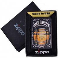 Зажигалка бензиновая Zippo Jack Daniels в подарочной упаковке №4735-2 реплика