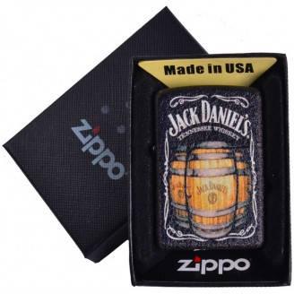 Зажигалка бензиновая Zippo Jack Daniels в подарочной упаковке №4735-2
