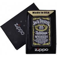 Зажигалка бензиновая Zippo Jack Daniels в подарочной упаковке №4740-1