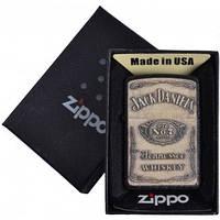 Зажигалка бензиновая Zippo Jack Daniels в подарочной упаковке №4740-2 реплика