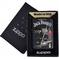 Зажигалка бензиновая Zippo Jack Daniels в подарочной упаковке №4740-3
