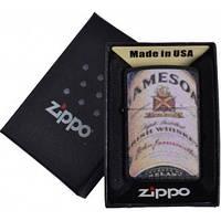 Зажигалка бензиновая Zippo JAMESON в подарочной упаковке №4736-1