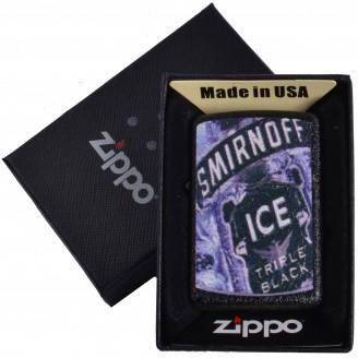 Зажигалка бензиновая Zippo SMIRNOFF ICE в подарочной упаковке №4735-4