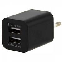 Зарядка AR-2100 5V 2100 mA 2 USB выхода black