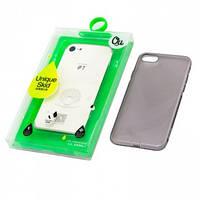 Чехол силиконовый iPhone 7 OU Case Ultra Slim затемненный