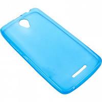 Чехол силиконовый цветной Lenovo A5000 синий