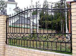 Забор сварной с элементами ковки