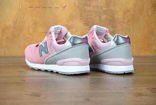 Женские кроссовки в стиле New Balance 996 Pink, фото 3