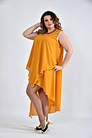 Женское  Горчичное  платье  0515-1 (42-74)