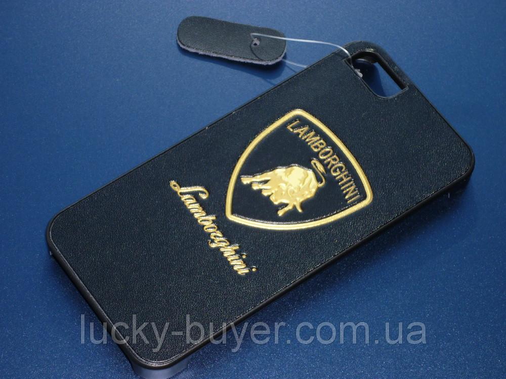 Чехол с логотипом Lamborghini для iPhone 5 5S кожа