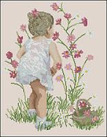 Девушка на лужайке. С-128