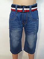 Бермуды джинсовые для мальчиков р.6-16 S&D