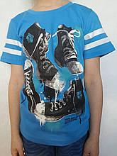 Футболка летняя трикотажная для мальчика р.104-122 Glo-story